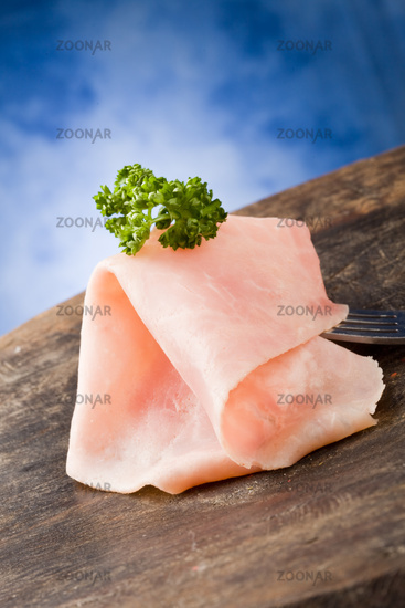 Ham Slice with parsley
