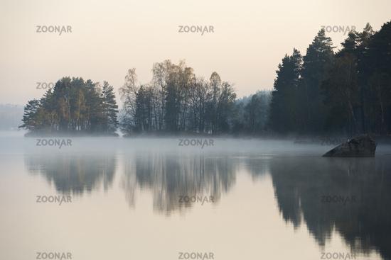 die Sonne geht auf... Morgenstimmung *Südschweden* an einem See