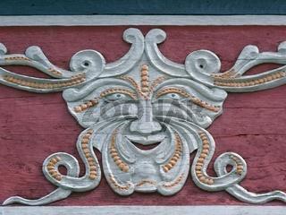 Fratze an Fassade