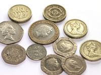 British Coins, Britische Muenzen