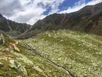 Wandern im Otztal bei Obergurgl, Hohe Wut, Österreich