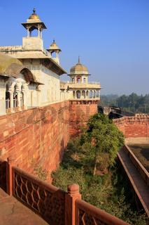 View of Musamman Burj in Agra Fort, Uttar Pradesh, India