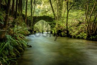 Old rock bridge over Filveda river