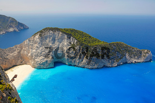 Navagio in Zakynthos island, Greece