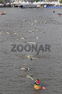 Triathlon Schwimmen, Alster, Hamburg 2016, Deutschland, Europa