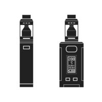 vector vaporizers mods types illustration