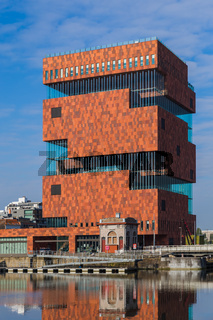 Building of the MAS museum in Antwerp Belgium
