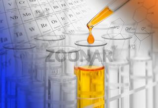 Experiment im Chemie Labor