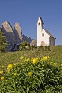 Kapelle San Maurizio auf dem Grödner Joch