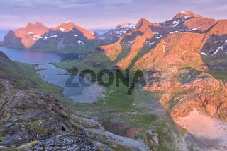 Abendstimmung, Bunesfjorden, Moskenesoeya, Lofoten