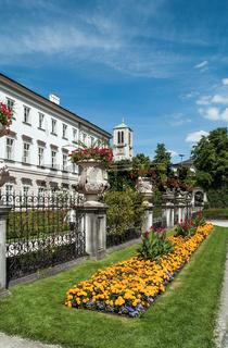 Oesterreich, Salzburger Land, Salzburg: Schloss Mirabell und Mirabellgarten, Galerie Thaddaeus Ropac