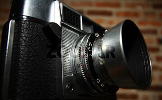 Antike Kamera mit Gegenlichtblende