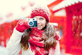 Smiling photographer