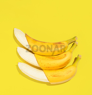 Flat banana background