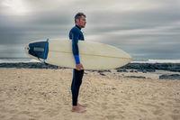 Side Portrait of Surfer