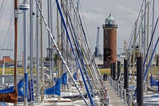 Leuchtturm, Nordseeheilbad Cuxhaven, Niedersachsen, Deutschland, Europa