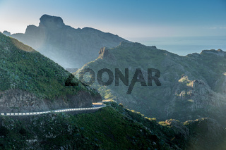 Windy road in the hills of Tenerife