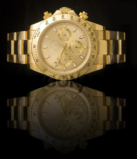 Luxury gold watch