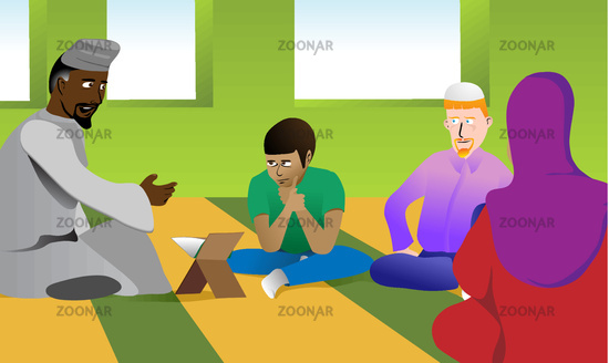 Muslim Teacher in a Mosque