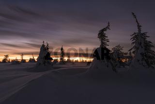 Abendstimmung, Riisitunturi Nationalpark, Lappland