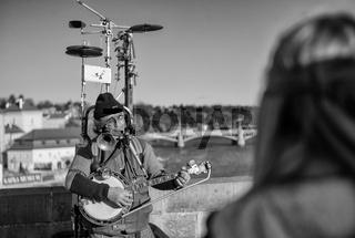 Musiker auf der Prager Karlsbrücke