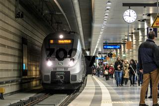 S-Bahn im Leipziger Tiefbahnhof