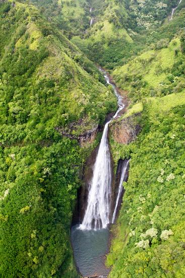 Wasserfall auf Kauai