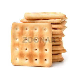 Stack of  soda crackers