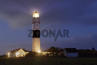 Leuchtturm Rotes Kliff, bei Kampen, Insel Sylt, Schleswig-Holstein, Deutschland, Europa