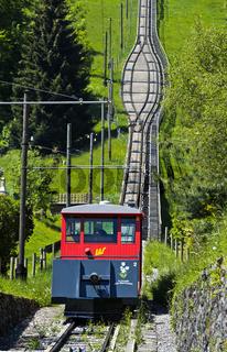 Standseilbahn Les Avants-Sonloup, Les Avants, Waadt, Schweiz