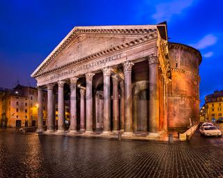 Piazza della Rotonda and Pantheon in the Morning, Rome, Italy