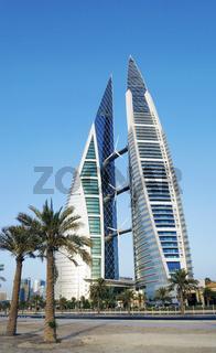 world trade center modern landmark in central manama city bahrain