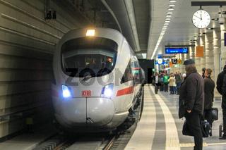 ICE im Leipziger Citytunnel