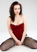beautiful young woman in sexy lingerie