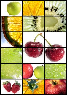 Vertical fruits composition