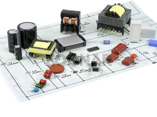Electronic components and the electric scheme