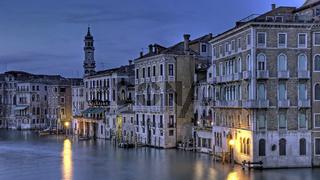Blue hour Venice Canale Grande