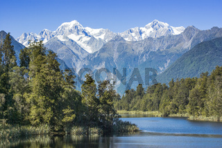 New Zealand Lake Matheson and Mount Cook