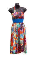 Shop Mannequin wearing a floral Dress