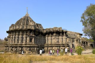 Kopeshwar temple. Left side view. Khidrapur, Kolhapur, Maharashtra, India