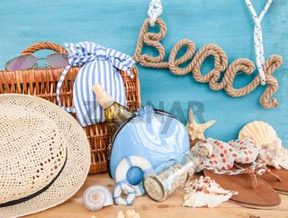 Alles fuer einen Ausflug zum Strand
