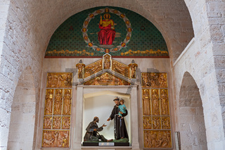 Particular of the interior of the church in Alberobello, Puglia, Italy