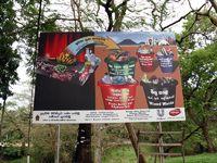 Aufruf zur Mülltrennung in Sri Lanka