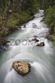 Fluss an der Carretera Austral, Patagonien, Chile