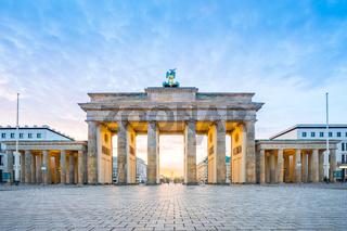 Sunrise at Berlin city with Brandenburg gate in Berlin, Germany