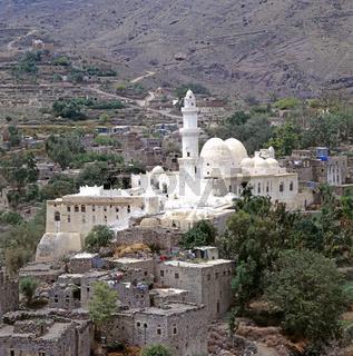 Moschee des Achmad Ibn Alwan, sunnitische Rechtsschule, Yafrus, Jemen / Mosque of the Achmad Ibn Alwan, Yafrus, Yemen