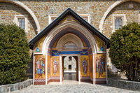 The Entrance to the Holy Monastery of the Virgin of Kykkos in Troodos mountains, Cyprus