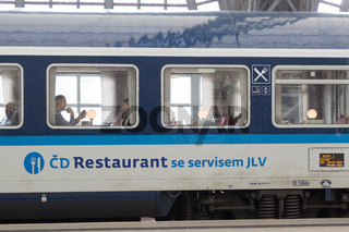 Tschechischer Speisewagen im EuroCity
