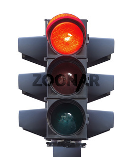 Traffic light isolated