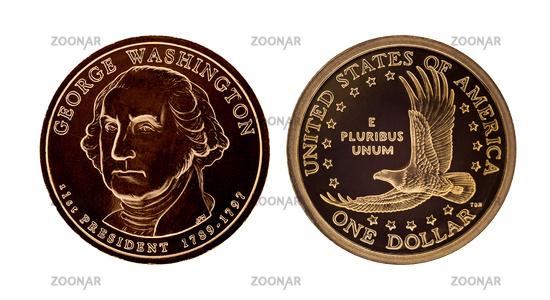 US one dollar coin - George Washington
